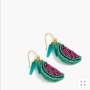 J. Crew Jewelry - J Crew Beaded Watermelon 🍉 Earrings